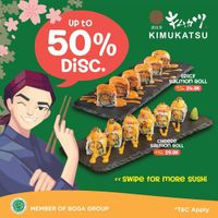 Kimukatsu Discount Up To 50% On Sushi