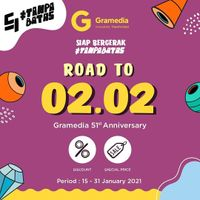 Gramedia Road To 02.02 Gramedia 51st Anniversary- Discount 51% Off