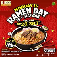 Gokana Promo Monday Is Ramen Day - Only For Rp. 26.363