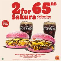Burger King Promo Sakura Collection