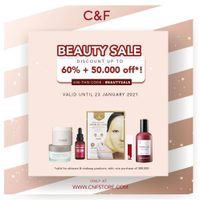 C&F Parfumery Beauty Sale Up To 60% + 50.000 Off