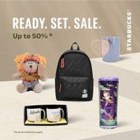 Starbucks Ready Set Sale 50% Off On Merchandise