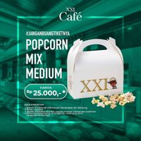 XXI Cafe Promo Mix Medium Popcorn Hanya Rp. 25.000