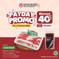Kintan Buffet Payday Promo Discount 40% Off On GrabFood
