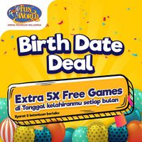 Fun World Birthday Date Deal Extra 5x Free Games On Your Birthday