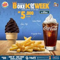 Burger King Promo Bokek Of The Week