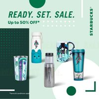 Starbucks Promo Ready Set Sale Up To 50% Off