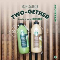 Starbucks Promo Share Two - Gether Special Price Only For Rp. 100.000