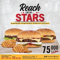 Carls Jr Promo Reach For The Stars Only For IDR. 75.000