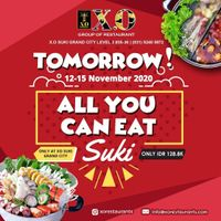 X.O Suki Promo All You Can Eat Only For Rp. 128.800