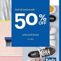 Keds End Of Season Sale Discount 50% Off