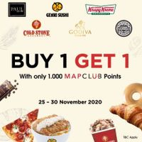 MapClub Buy 1 Get 1 Free With Only Rp. 1.000 Mpclub Points On Selected Resto