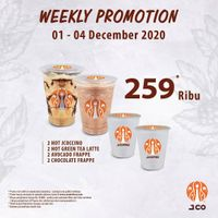 JCO Weekly Promotion - 4 Beverages Only For Rp. 259.000