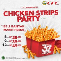 CFC Promo Chicken Strips Start From Rp. 28.000