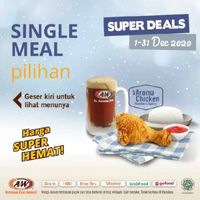 A&W Promo Super Deals Single Meal