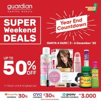 Katalog Promo Guardian Weekend Deals up to 50% Periode 3 - 6 Desember 2020