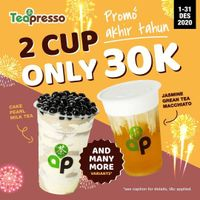 Tea Presso Promo 2 Cup Only Rp. 30.000