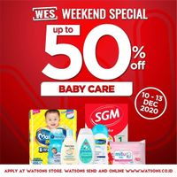 Watsons Promo Weekend Special Discount 50% Off On Baby Care