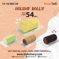Breadtalk Promo Holiday Rolls - Roll Cakes Only For 54 Ribu