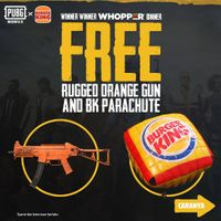 Burger King Free Rugged Orange Gun And BK Parachute