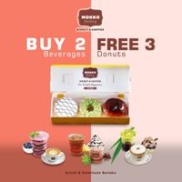 Mokko Factory Buy 2 Beverages Get 3 Free Donuts