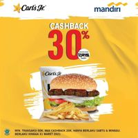 Carls Jr Cashback 30% With Mandiri QRIS