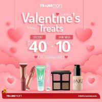 Transmart Carrefour Valentine Treats Discount 40% + 10% Off