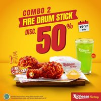 Richeese Factory Discount 50% Off On Fire Drum Stick
