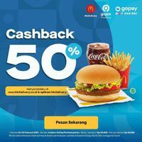 McDonalds Cashback 50% For Payments With Gopay