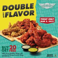 Wingstop Promo Double Your Flavor Buy 20 Get 20 Free Chicken Wings