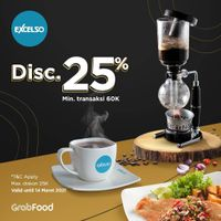 Excelso Discount 25% Off On GrabFood