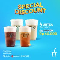 Urban Latte Special Discount For Selected Package