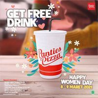 Panties Pizza Happy Woman Day Get Free Drink