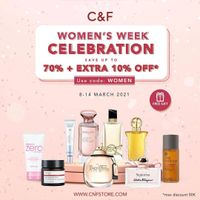 C&F Parfumery Save Up To 70% Off + Extra 10% Off