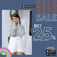 Avenue Buy 2 Discount 25% Off On New Arrival Items
