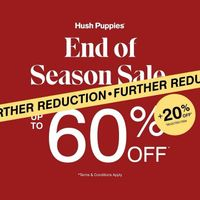 Hush Puppies End Of Season Sale Up To 60% Off + 20% Off