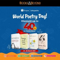 Books & Beyond World Poetry Day Discount 40% Off On Shopee