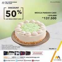 The Coffee Bean & Tea Leaf Diskon 50% Cake Dengan Kartu Kredit Bank Mega