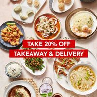 Din Tai Fung Promo Get Discount 20% Off For All Menu Thru Delivery/TakeAway