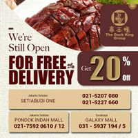The Duck King Promo Diskon 20% + Free Delivery