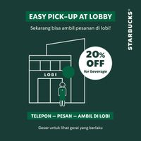 Starbucks Promo Discount 20% Off For Selected Beverage