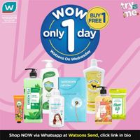 Watsons Promo Watsons On Wednesday, Buy 1 Get 1 Free & Discount 50% Off At Online Store