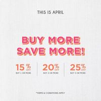 This Is April Discount Up To 25% Off