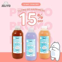 Jeliyo Promo 1 Litre Of Happiness Discount 15% Off
