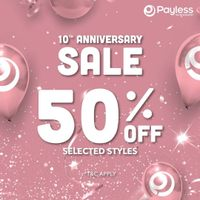 Payless Promo 10th Anniversary Discount 50% Off
