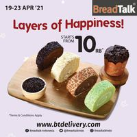 Bread Talk Promo Layers Of Happiness Start From Rp. 10.000