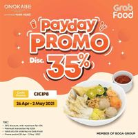 Onokabe Discount 35% Off On GrabFood