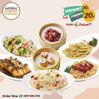 Imperial Kitchen & Dimsum Promo Diskon 20% + Cashback 20% + Free Delivery