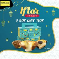Hokkaido Promo Iftar Treats, Get 2 Box Only For Rp.150.000