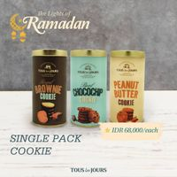 Tous Les Jours Promo Special Value Single Pack Cookie Only For IDR 68.000/Each